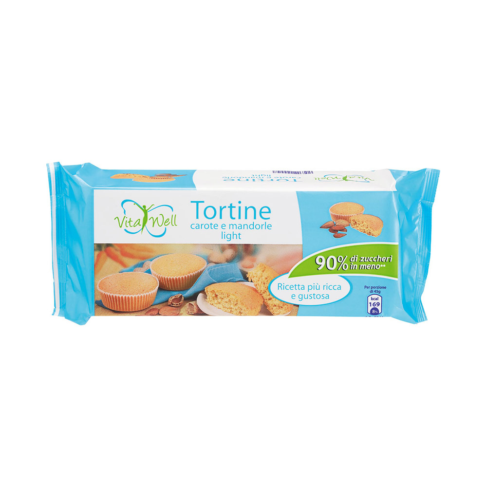 Tortine Carote e Mandorle Light